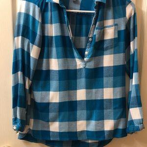 2 Girls Size 10/12 Plaid Shirts